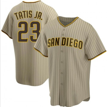 Men's San Diego Padres Fernando Tatis Jr. Sand/Brown Alternate Jersey - Replica